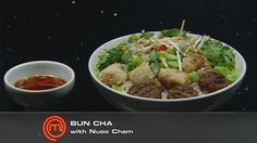 Vietnamese Grilled Pork, Spring Roll and Rice Vermicelli Salad (Bun Cha)