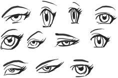 Step by Step tutorial : How to Draw Anime / Manga - Girl Eyes