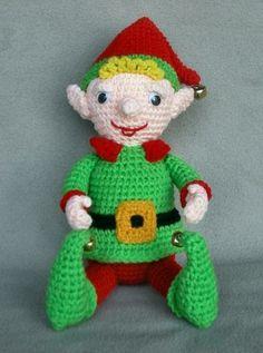 free christmas crochet patterns | Christmas Elf Crochet Pattern by WolfDreamerOTH on Zibbet
