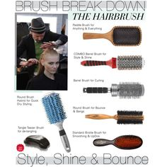 A beauty collage from January 2013 featuring round brush blow dryer, Aveda and hair brush. Browse and shop related looks. Diy Beauty, Beauty Hacks, Beauty Tips, Beauty Tutorials, Fall Makeup, Hair Day, Men's Hair, Curly Hair, Hair Brush