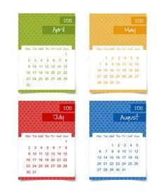 Printable 2012 Calendar #wall_calendar #desk_calendar