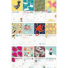 cute Paper Source calendar. I esp like May, June & July. Maybe I only really like those months.