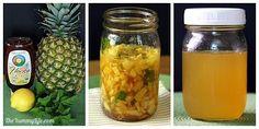 osem receptov na ovocne a bylinkove sirupy bez varenia (12) Pineapple Syrup, Pineapple Mint, Carbonated Soft Drinks, Detox, Homemade Syrup, Honey Syrup, Ginger And Honey, Fruit Jam, Variety Of Fruits
