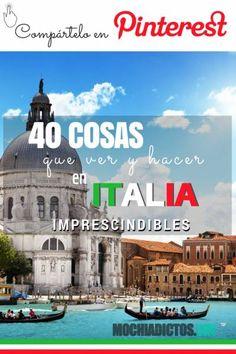 40 mejores cosas que hacer y ver en Italia ¡Imprescindibles! Si estás buscando información de que ver y hacer en Italia, este es el mejor post que vas a encontrar en Internet para planificar tu viaje.