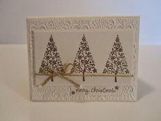 Christmas Card Crafts, Homemade Christmas Cards, Christmas Tree Cards, Stampin Up Christmas, Xmas Cards, Homemade Cards, Handmade Christmas, Holiday Cards, Cards Diy