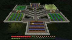 A Minecraft garden