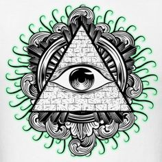 All seeing eye psychedelic trippy illuminati Simbolos Tattoo, New Tattoos, Tattoo Drawings, Retro Tattoos, Eye Drawings, Sketch Tattoo, Illuminati Tattoo, Illuminati Drawing, Illuminati Symbols