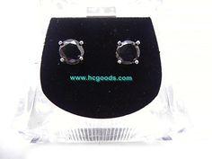 Magnetic Earrings - Flower Star CZ Black Magnetic Earring