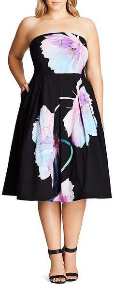 Beautiful!  Plus Size Pretty Bloom Dress