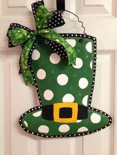 St. Patrick's Day Leprechaun Hat Stuffed by BeccasFrontDoorDecor
