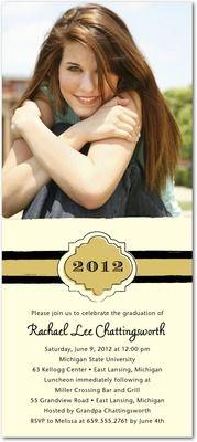 graduation invitations, Distinct Band