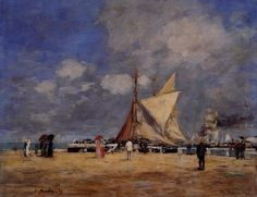 Deauville, on the Jetty - Eugene Boudin, 1889