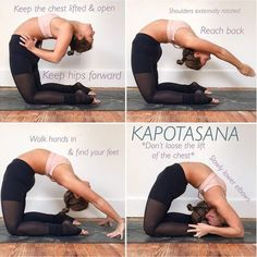 Calling all backbenders! I know Kapotasana is one of those postures we dream of … Calling all backbenders! I know Kapotasana is one of those postures we dream of accomplishing and with the correct practice it's possible. Fitness Workouts, Yoga Fitness, Cardio Workouts, Health Fitness, Kriya Yoga, Yoga Bewegungen, Yoga Inversions, Ashtanga Yoga, Vinyasa Yoga