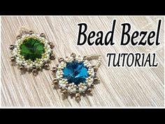 Bead bezel tutorial - How to bezel a crystal using Peyote stitch - YouTube