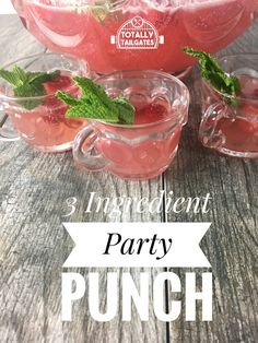 3 Ingredient Party Punch is family friendly and so good! It's perfect for bridal and baby showers, sweet sixteen teas, weddings and church potlucks! Potluck Themes, Potluck Recipes, Sweets Recipes, Potluck Ideas, Desserts, Refreshing Drinks, Yummy Drinks, Wedding Punch, Wedding Cake