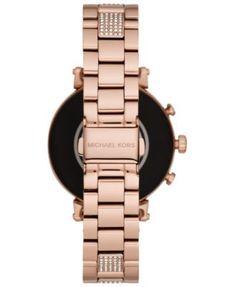 c45ef36bcf8b Michael Kors Access Women s Sofie Heart Rate Rose Gold-Tone Stainless Steel  Bracelet Touchscreen Smart
