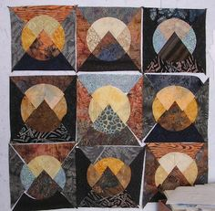 moon over the mountain quilt block