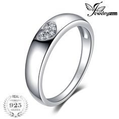 JPalace Heart CZ Wedding Rings 925 Sterling Silver Rings for Women Anniversary Wedding Bands Silver 925 Jewelry Fine Jewelry. Heart Wedding Rings, Silver Wedding Rings, Wedding Ring Bands, Heart Ring, Engagement Jewelry, Gold Engagement Rings, Wedding Engagement, Ring Ring, Sterling Silver Jewelry