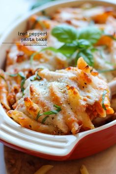 Red Pepper Pasta Bake - A quick and easy pasta bake that the whole family will love!