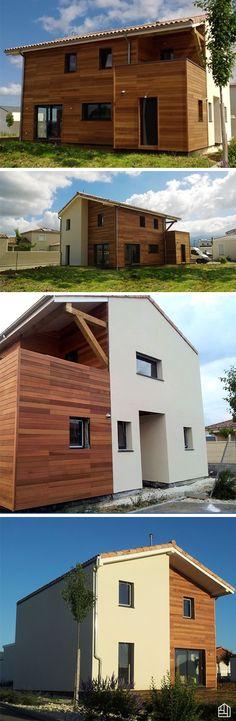 Extension de 50 m² avec du bardage claire-voie en thermopin