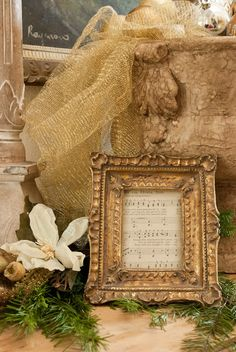 Frame a favorite sheet of music as  Christmas decor