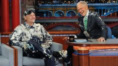 Parting really is such sweet sorrow! Bill Murray popped out of cake for David @Letterman http://bit.ly/1HutxJY