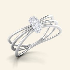 Shop Designer Splendid Nucleous Ring at Caratstyle - Available at 14kt/18kt in White Gold or Yellow Gold or Rose Gold with Free Shipping. Online Jewelry Shopping Store in India.