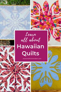 Are you curious about Hawaiian Quilts? Learn about the history and artistry of Hawaiian Quilts, especially the way the designs are created. Quilting For Beginners, Quilting Tips, Quilting Tutorials, Quilting Projects, Sewing Projects, Sewing Tips, Hawaiian Quilt Patterns, Hawaiian Quilts, Quilt Patterns Free