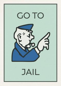 Go To Jail Greeting Card featuring the mixed media Go To Jail Vintage Monopoly Board Game Theme Card by Design Turnpike Monopoly Cards, Monopoly Game, Custom Monopoly, Board Game Themes, Board Game Design, Peter Et Sloane, Christmas Tree Store, Prison, Bored Games