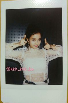 BLACKPINK Jisoo polaroid photo