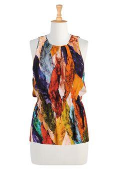 eShakti - Shop Women's designer fashion dresses, tops   Size 0-36W & Custom clothes    autumn colors top $49.95