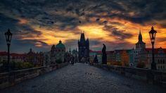 Charles Bridge Morning Light - Morning light on the Charles Bridge in Prague, Czech Republic.