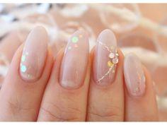 ネイルサロン ブリスト 銀座店(Nail Salon Blisst)/【6300円 定額ホロコース】 Bridal Nails, Wedding Nails, Colorful Nail Designs, Nail Art Designs, Pastel Nails, Acrylic Nails, Cute Nails, Pretty Nails, Japanese Nail Art