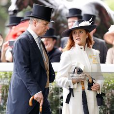 (EMBARGOED FOR PUBLICATION IN UK NEWSPAPERS UNTIL 48 HOURS AFTER CREATE DATE AND TIME) Prince Andrew, Duke of York and Sarah Ferguson, Duchess of York attend day 4 of Royal Ascot at Ascot Racecourse on June 17, 2016 in Ascot, England. (Photo by Max Mumby/Indigo/Getty Images)