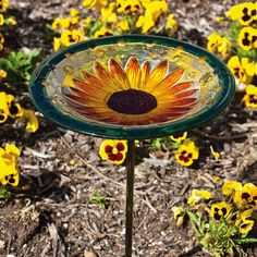 A variation combining two of strongest categories - bird baths and stakes - into one product that's both beautiful and practical. We also offer a stand ba...