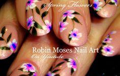 Spring Flower Nail Art #nailart #nails #naildesign #design #tutorial #flowernails #flowers #diynails #easynailart #diynailart #lavenderflowers #flowernailart #springnailart #diy #howto