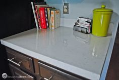 Painted kitchen counter by Designing Dawn |  DIY Kitchen Countertops