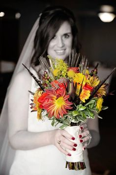 The beautiful bride, Cortney, with her bouquet done by North Park Florist--Buffalo, NY Beautiful Bride, Buffalo, Wedding Flowers, Bouquet, Crown, Park, Fashion, Moda, Corona