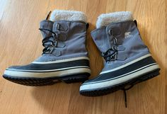 Size 7.5 women's boots in great pre owned condition. Weather proof warm boots for winter. Warm Boots, Winter Boots, Sorel Boots, New Dress, Buy Now, Beautiful Dresses, Calves, Weather, Shoes