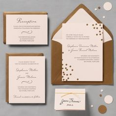 Gold wedding invitations  Keywords: #weddings #jevelweddingplanning Follow Us: www.jevelweddingplanning.com  www.facebook.com/jevelweddingplanning/