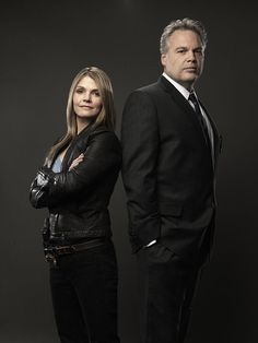 Law & Order: Criminal Intent: Detectives Eames (Kathryn Erbe) and Goren (Vincent D'Onofrio). Loved the way they interacted. They balanced one another.