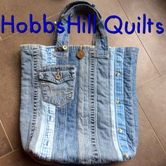 denim bag--waste not, want not