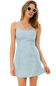 MINKPINK Dress Toto Chambray Sundress in Blue