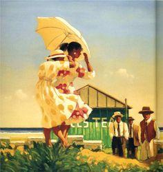 Jack Vettriano (1951 - ) - A Dangerous Beach