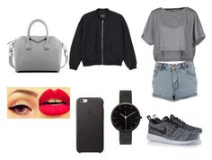 """""""outfit #150"""" by anaguilhermep98 on Polyvore featuring Miss Selfridge, M.GRIFONI DENIM, NIKE, Monki, Givenchy, I Love Ugly, women's clothing, women, female and woman"""