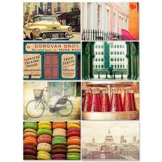 Keri Bevan London Travel Postcard Set – 8Pc from Designer Postcards - R129 (Save 0%)