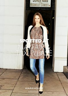 #SPOTTEDAT MAYFAIR & TAXI PLEASE  SS13 pieces coming soon - New pieces arriving daily.  View the concept: http://www.warehouse.co.uk/blocked-animal-print-coat/clothing/warehouse/fcp-product/4223059799