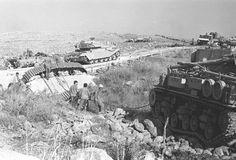 Israeli Sherman based ARV righting an overturned tank