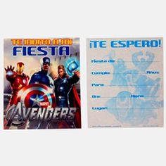 #invitacion #avengers #fiesta #kitfiesta www.kitfiesta.com