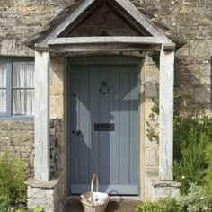 Nice period front door showing our pewter patina door furniture Letter plate an Nice period front Cottage Front Doors, Oak Front Door, Front Door Porch, Cottage Porch, Porch Doors, House Front Door, Painted Front Doors, Front Door Entrance, Cottage Exterior